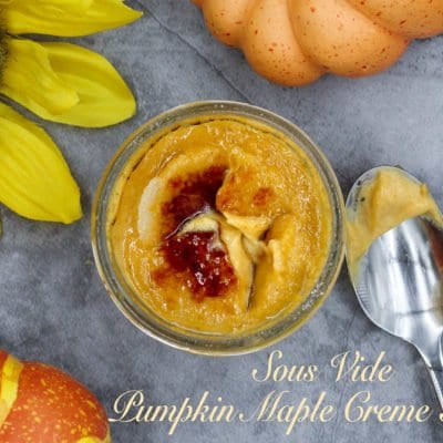 Pumpkin Maple Creme Brulee